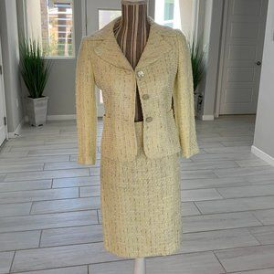 Antonio Melani Yellow Tweed Skirt